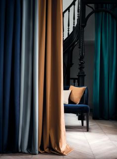 Commercial Interior Design, Commercial Interiors, Rideaux Design, Bedroom Cupboard Designs, Casamance, Made To Measure Curtains, Curtain Designs, Drapes Curtains, Soft Furnishings