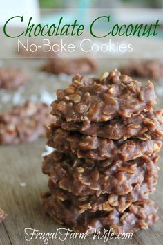 These no-bake chocolate coconut cookies are amazing! Like traditional no-bakes, but... MORE!