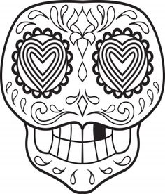 Sugar Skulls Calavera Drawings And Coloring Pages History Meaning Of Is