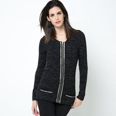 image Softly Shimmering Couture Style Cardigan LAURA CLEMENT