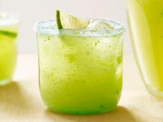 Jalapeno margarita with celery leaves and fresh lime juice. Cinco de Mayo party ideas.