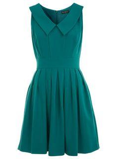 Green Collar Skater Dress (Miss Selfridge)