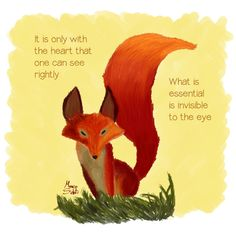 Le Petite Prince (The Little Prince Fox) by thebaddie-design on DeviantArt Little Prince Fox, Little Prince Quotes, Little Prince Tattoo, Little Fox, Fox Quotes, Fox Quilt, Prince Tattoos, Animal Spirit Guides, Fox Tattoo