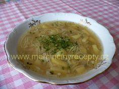 + Nudlová česnečka Czech Recipes, Ethnic Recipes, Recipies, Soup, Recipes, Soups, Soup Appetizers