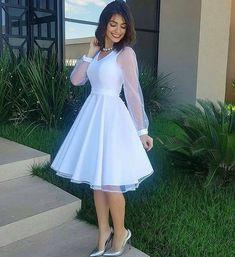 Elegant White Dress, Classy Dress, Classy Outfits, Elegant Dresses, Pretty Dresses, Modest Dresses, Casual Dresses, Short Dresses, Fashion Dresses
