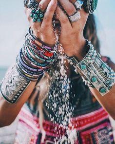 boho accessories #bohemian jewelry #beach summer fashion