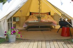 #Glamping #Bell Tent #Luxury www.thecanvascottagecompany.co.uk
