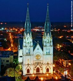 The Cathedral of St. John the Baptist in Savannah, Ga. We were married here over 55 years ago.  Beautiful church!!