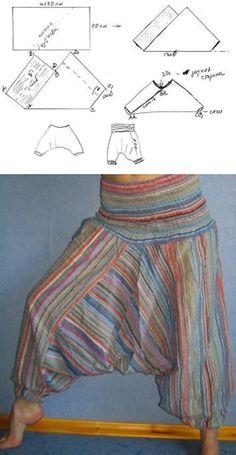 skiss byxor Sewing Paterns, Burda Sewing Patterns, Clothing Patterns, Dress Patterns, Shirt Patterns, Sewing Pants, Sewing Clothes, Diy Clothes, Fashion Sewing