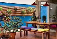 Espaço de Estar com Jardim Vertical