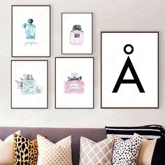 Cheap for home, Buy Quality art wall directly from China posters posters Suppliers: Canvas Art Wall Painting Calligraphy Wall Picture Original Perfume Bottle Modern Poster Prints For Home Office Decor
