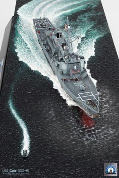 "DDG-67 ""COLE"", built by master modeler Kim hyun-soo, south korea"