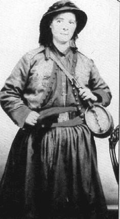 """Marie Tepe or """"French Mary"""" served  with the 114th Pennsylvania Volunteers (Collis' Zouaves) during the American Civil War. A French immigrant, she married a Philadelphia tailor and followed him into the army when he enlisted in the 27th Pennsylvania Volunteers. Later she joined Collis' Zouaves and saw out the war with that regiment. She received a bullet wound to the ankle. For her bravery she received the coveted Kearny Cross."""