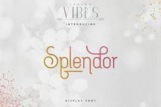 [Spring Vibes] Splendor Font -30% by Vladfedotovv on @creativemarket