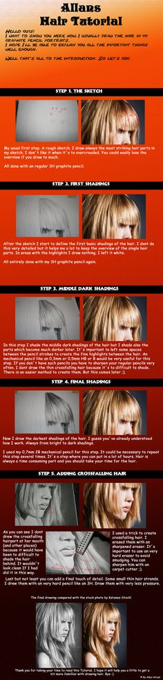 Deviant: SilentDeath007  Tutorial. Drawing. Hair. Shading.