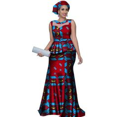 African Style Long Dress For Women Cotton Print Kitenge Ankara with He – Afrinspiration African Dresses Online, Latest African Fashion Dresses, African Dresses For Women, African Print Dresses, African Print Fashion, African Attire, African Style Clothing, African Skirt, African Prints