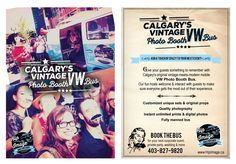 Create a super fun postcard promo for vintage VW photo bus by hdcreationad