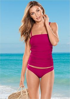 cac4ae6c24f #ddswimwear Plus Size Tankini, Tankini Top, Plus Size Women, Clothing,  Swimwear