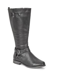 Plus size boots with a wide calf design, featuring elastic inserts for a snug fit and a hot look. Wear them with leggings or jeans to complement any work outfit, or laid back look. 15 inch height.