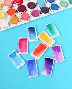 Watercolor brushstroke DIY magnets