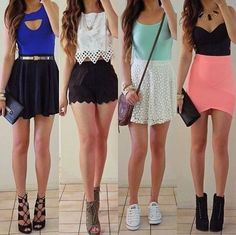 four outfits for four days of the week or a four day weekend!! Love every outfits <3