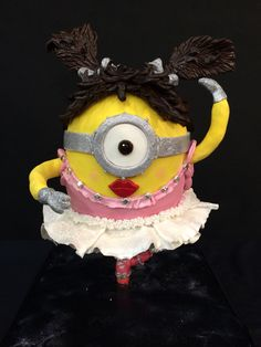 My ballet minion cake that came first in the carved section of the Whangarei cake and craft show. Www.caketinlove.co.nz. https://www.facebook.com/pages/Caketin-Love/559413840833092