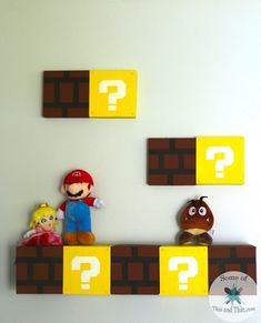 DIY Mario Shelves | Nerdy Crafts!! This is an easy DIY that is perfect for that geek or gamer in your life! Simple to make and inexpensive to make!