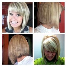 ... back view inverted bob front and back view stacked layered bob haircut