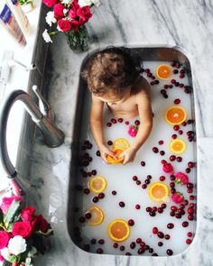 Milk bath baby girl, cranberry orange Christmas bath