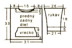 Pulovr s klokaní kapsou a čepička – Návody na pletení