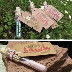 Gastgeschenke - Hochzeit BRAUSE Gastgeschenk Reagenzglas KRIBBELN - ein Designerstück von ChrisSign bei DaWanda