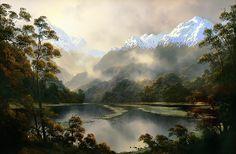Landscape Art, Landscape Paintings, Oil Paintings, Carl Spitzweg, Wilson Art, Different Forms Of Art, New Zealand Landscape, New Zealand Art, Nz Art