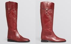 Burberry Tall Flat Riding Boots - Copse Check Embossed 1095