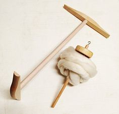 Yarn Place Hand Made Maple 2 yd Niddy Noddy Drop Spindle With 2 oz Merino Wool Fiber Kit ** You can find more details by visiting the image link.