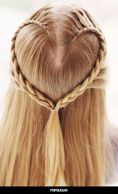 Make a Heart Braid for Valentine's Day! I would fuck this up so bad, but the photo is pretty!