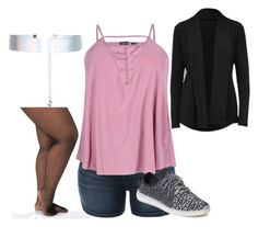 """""""Sporty Kitty"""" by pinksparklesurprise ❤ liked on Polyvore featuring Ashley Stewart, Jofit, LE3NO, Boohoo and Accessorize"""