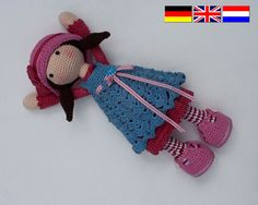 Crochet pattern for doll CELINE Deutsch English by CAROcreated