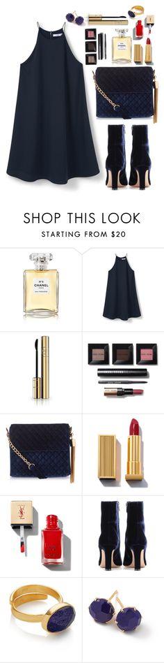 """N e w . Y e a r s . E v e . D r e s s"" by magi-418 ❤ liked on Polyvore featuring Chanel, MANGO, Dolce&Gabbana, Bobbi Brown Cosmetics, New Look, Gianvito Rossi and Ippolita"