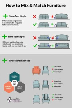 If you want to get a little creative with your furniture selection, these are great tips for how to mix and match furniture like an interior design pro. Living Room Furniture Arrangement, Living Room Furniture Layout, Living Room Designs, Furniture Design, Furniture Ideas, Apartment Furniture Layout, Arranging Bedroom Furniture, Living Room Arrangements, City Furniture