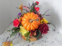 fabulous fall autumn Thanksgiving centerpiece by BountifulBouquets Silk Flower Centerpieces, Thanksgiving Centerpieces, Autumn, Fall, House Party, Celebrity Weddings, Silk Flowers, Pumpkin, Unique Jewelry
