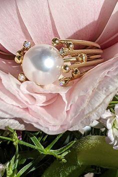 Sila rokmi overenej stálice v našej ponuke, prsteňa La Luna, sa sústreďuje na krásu perly, tvoriacej jej korunu. A hoci tento model vyrábame v prevedení rôznych typov perál, pre dnešný deň vám predstavujeme variáciu s perlou juhomorskou. Juhomorské perly patria medzi najvzácnejšie a najcennejšie kultivované perly súčasnosti a inak na tom nie je ani set šperkov, ktorých názov inšpirovala nebeská družica. Statement Rings, Modeling, Pearl Earrings, Brooch, Pearls, Diamond, Jewelry, La Luna, Pearl Studs