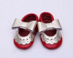 Blue leather baby boy shoes Navy baby slippers Baby leather