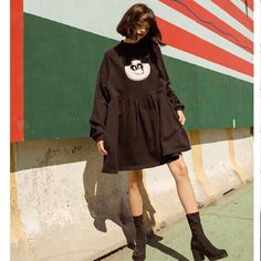 We are panda-ing to all of your sweater dress needs with our newest design 🐼⚫️〰 Lazy Outfits, Going Out Outfits, Night Outfits, Outfits For Teens, Pretty Outfits, Casual Outfits, Pretty Clothes, Winter Outfit For Teen Girls, Winter Outfits For Work