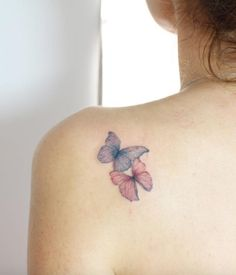 Lover Butterflies Tattoo