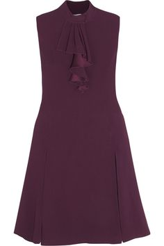 Prada - Lace-trimmed Ruffled Crepe Dress - SALE20 at Checkout for an extra 20% off