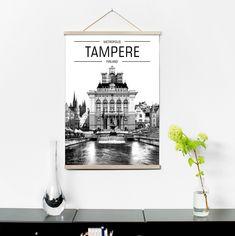 Juliste Metropolis Tampere 2017, 50x70 cm, Art & Design Jussi Lahtinen | domdom.fi Finland, Walls, Lettering, Design, Home Decor, Art, Craft Art, Calligraphy, Room Decor