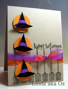 I am just loving these sketches! Thank you to all the lovely people at Caardvarks. This is my take on the day 6 challenge. I am really pleased with the juxtaposition of the glitter, high gloss emboss Halloween Cards, Holidays Halloween, Halloween Fun, Halloween Clothes, Halloween Witches, Costume Halloween, Fall Cards, Holiday Cards, Christmas Cards