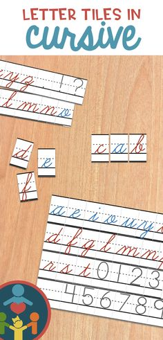 Love these cursive tile printables! Perfect handwriting lines and never have worry about missing letter manipulatives again! Perfect Handwriting, Handwriting Lines, Improve Your Handwriting, Handwriting Practice, Teaching Kids To Write, Creative Teaching, Primary Teaching, Teaching Reading, Teaching Resources