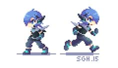 Sprite Animation [Lhed Idle and Running] by SandraGH on DeviantArt