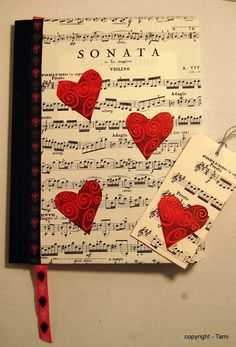 i like the idea of using sheet music...